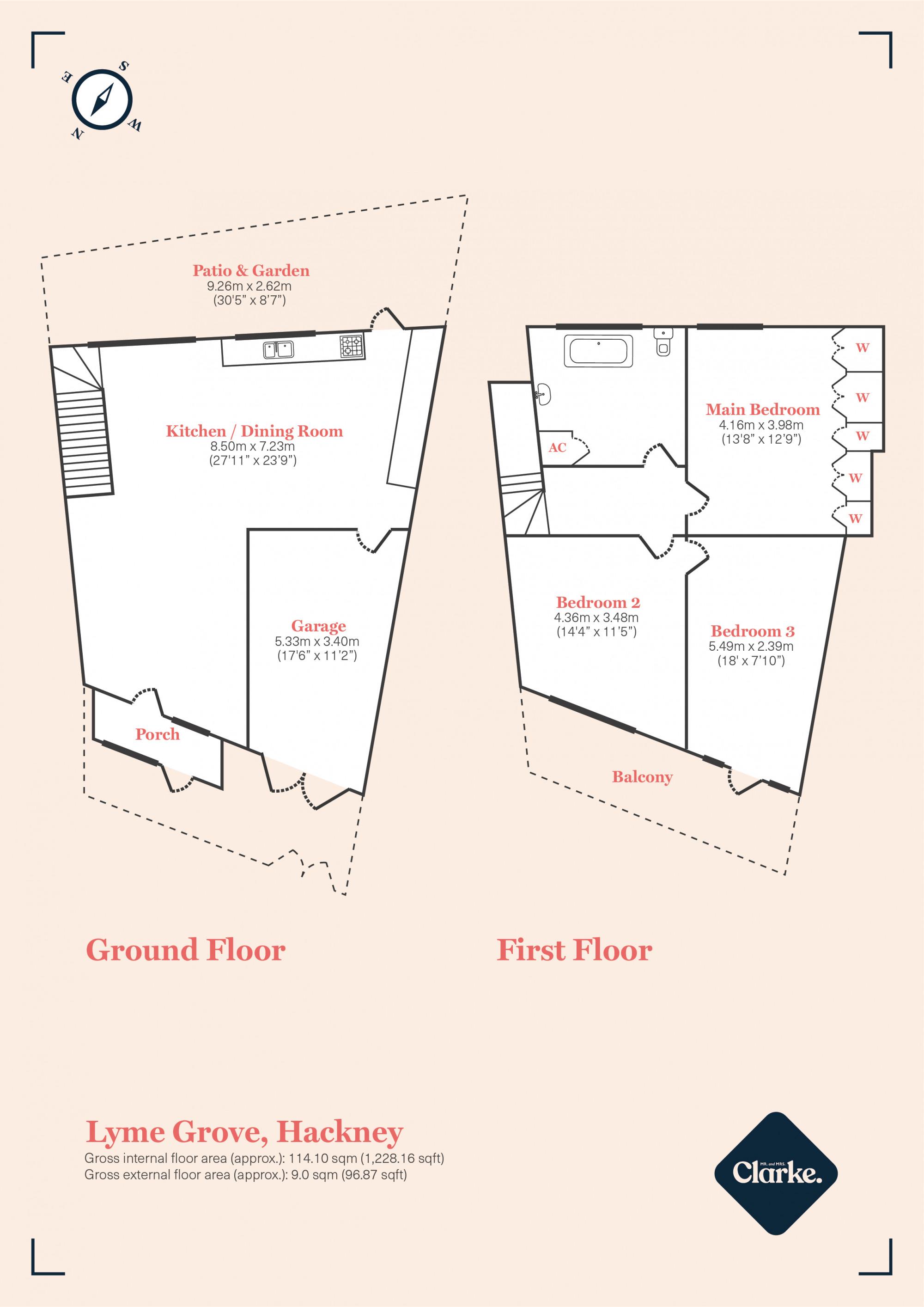 The Photographers House, Hackney. Floorplan.