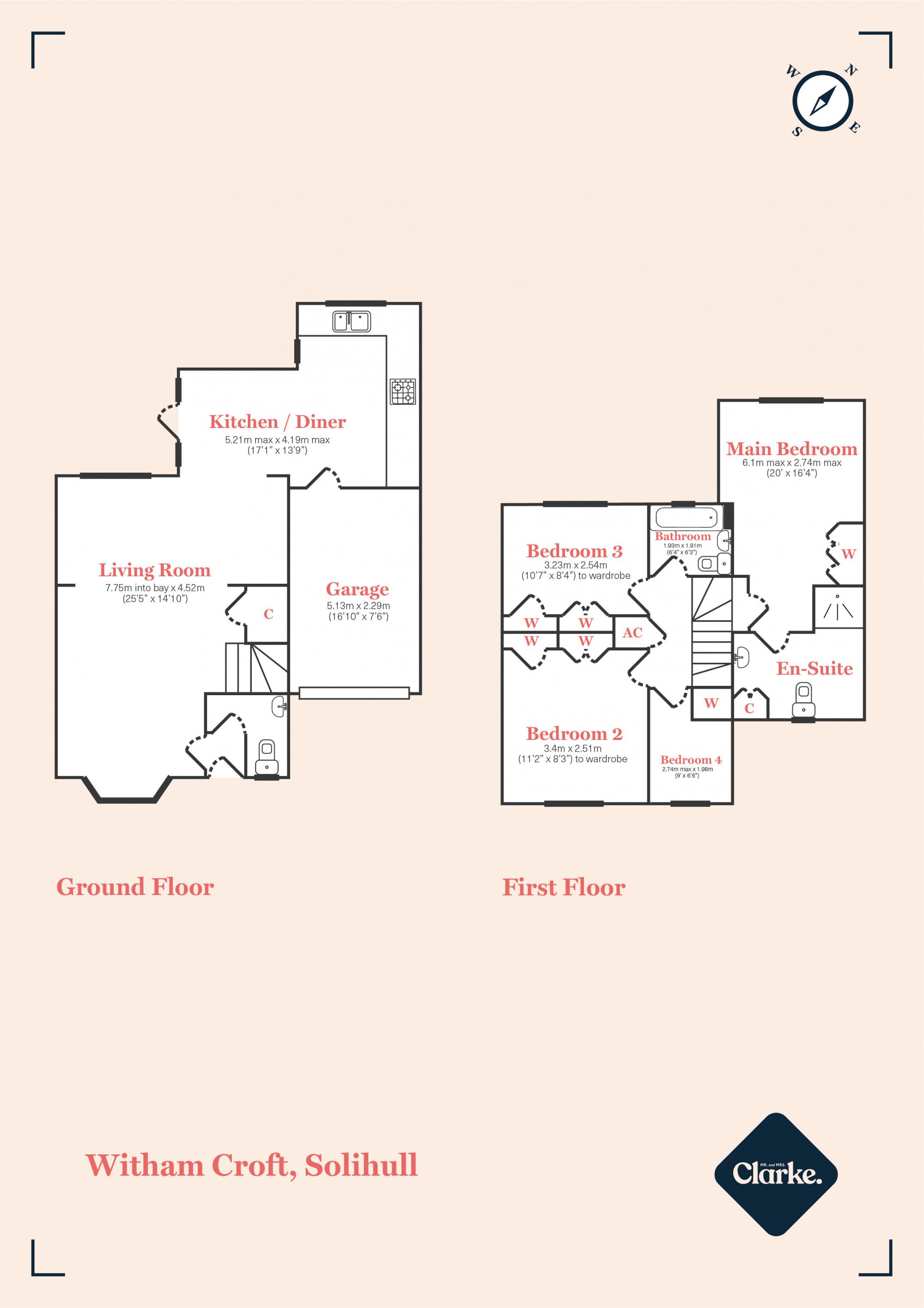 Witham Croft, Hillfield. Floorplan.