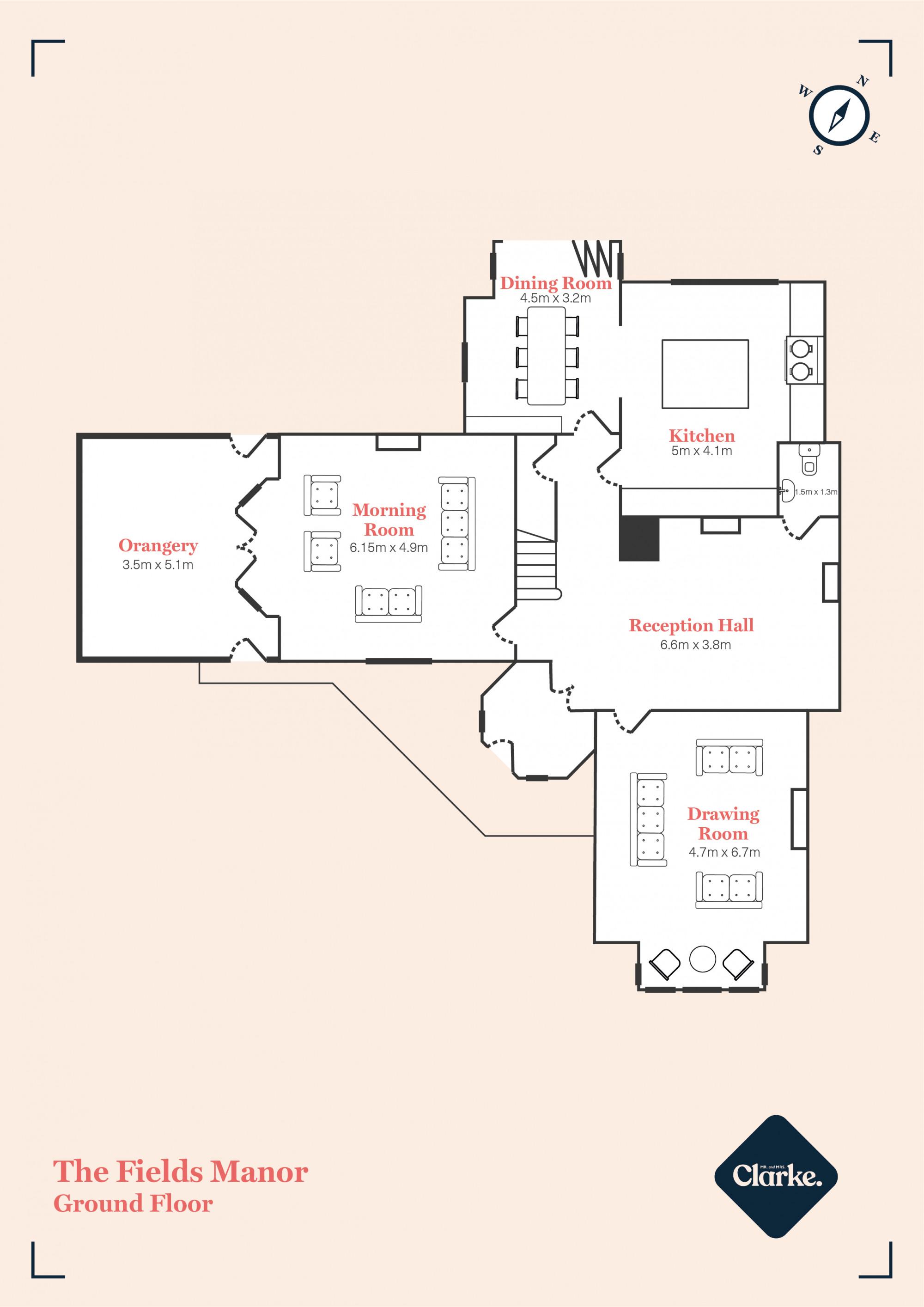 The Fields Manor, Newport. Floorplan.