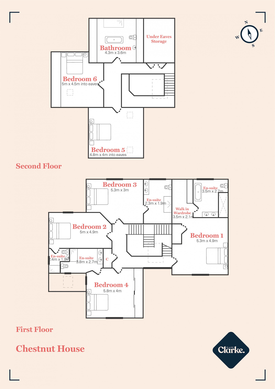 Chestnut House, Newport. Floorplan.
