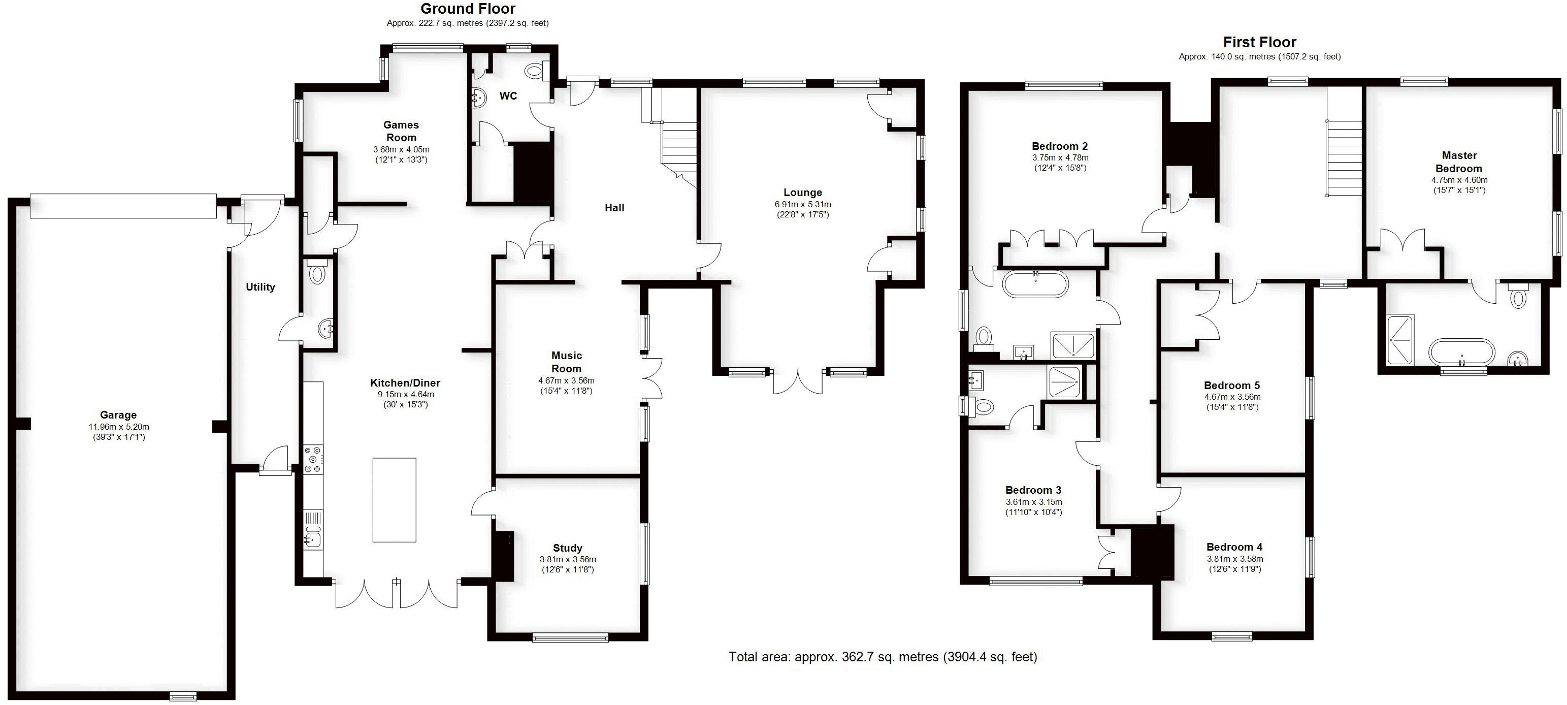 Tilehouse Green Lane, West Midlands. Floorplan.