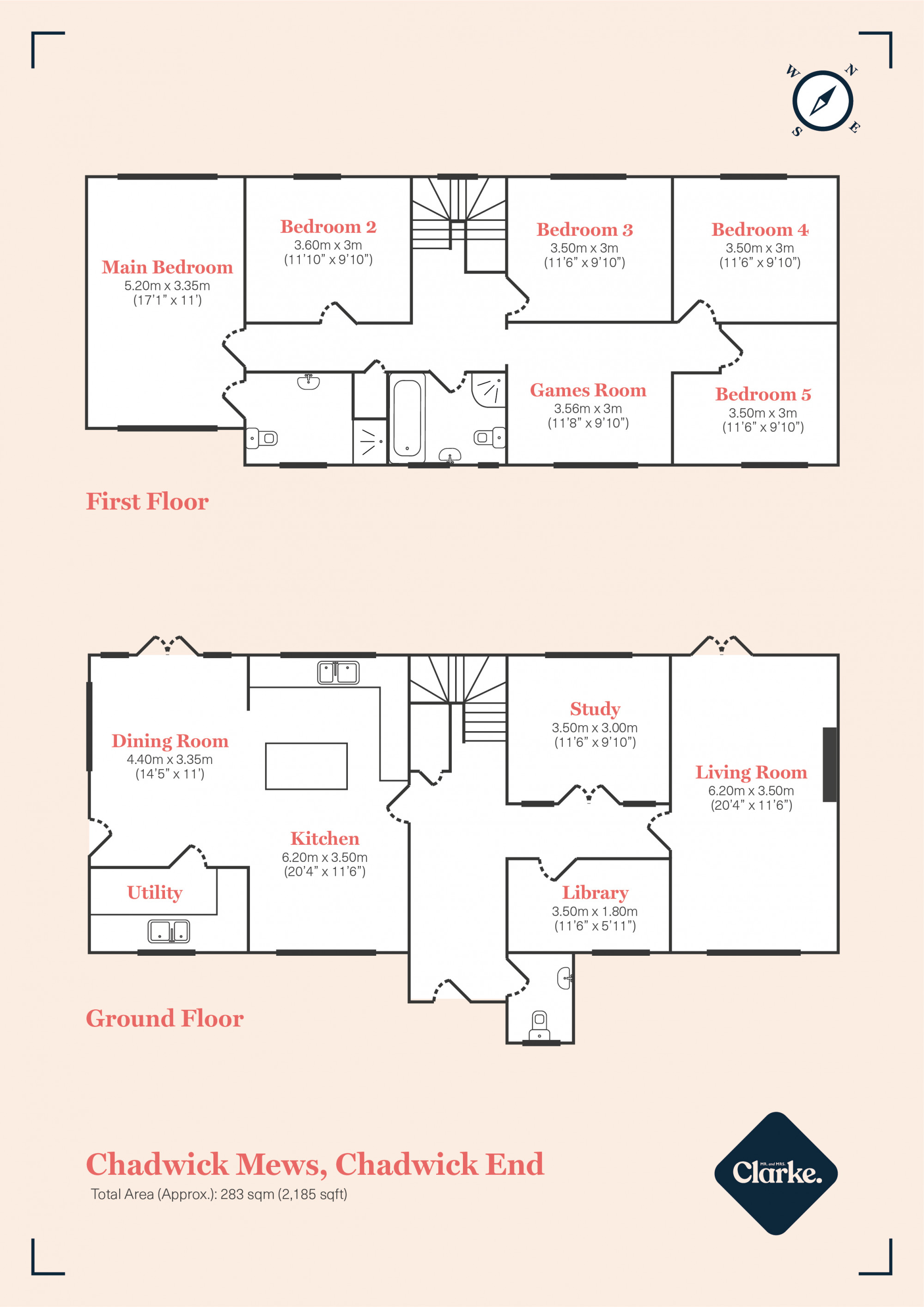 The Mews House, Chadwick End. Floorplan.