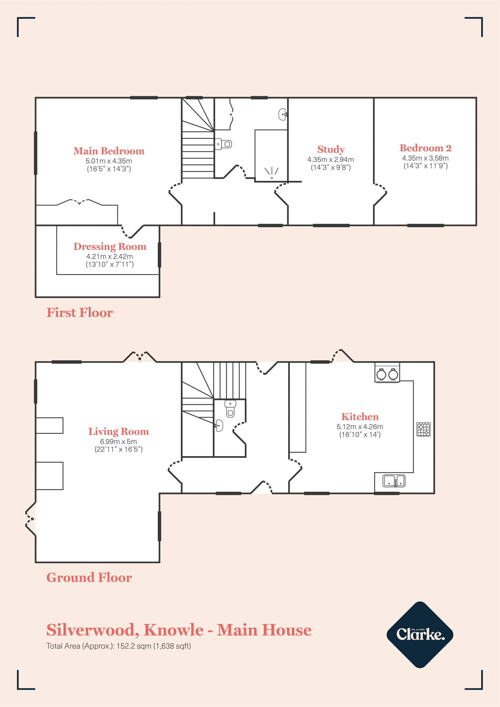 Silverwood, Baddesley Clinton. Floorplan.