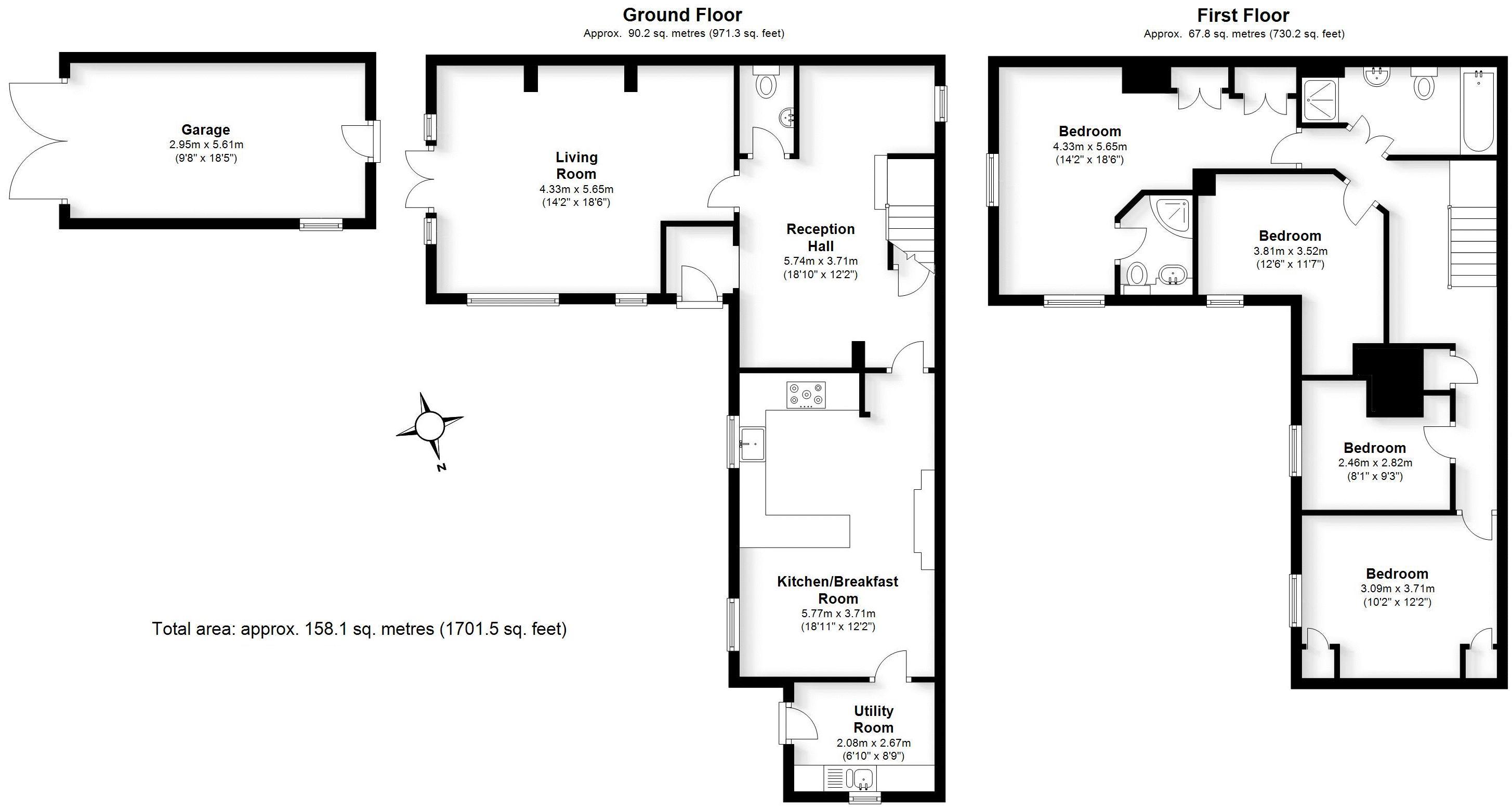 Knob Hill, Stretton-on-Dunsmore. Floorplan.