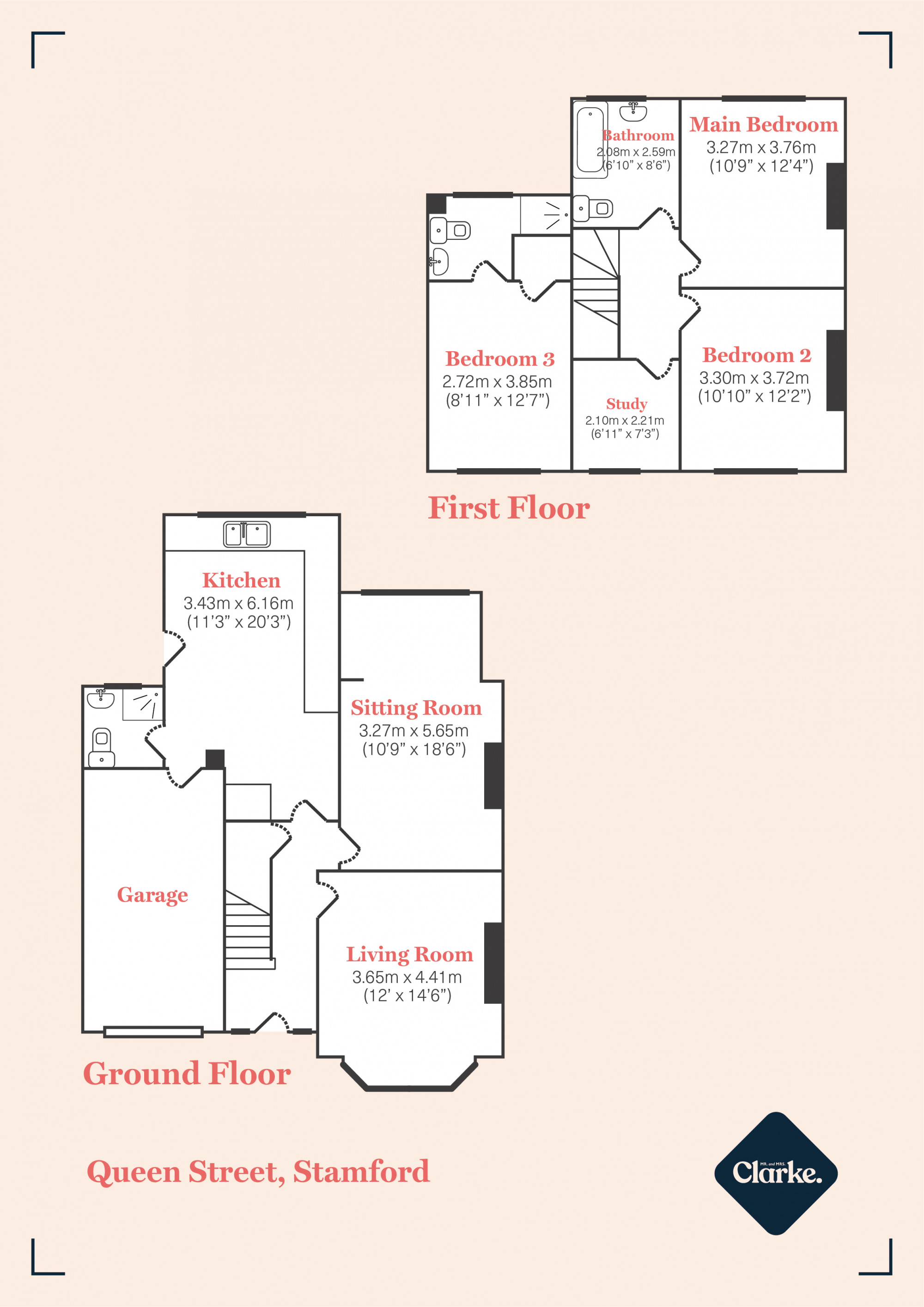 Queen Street, Stamford. Floorplan.